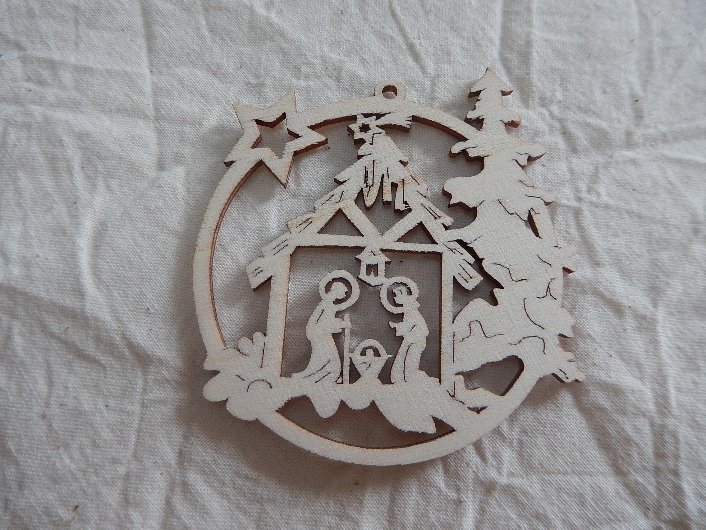 チェコの木製クリスマスオーナメント10