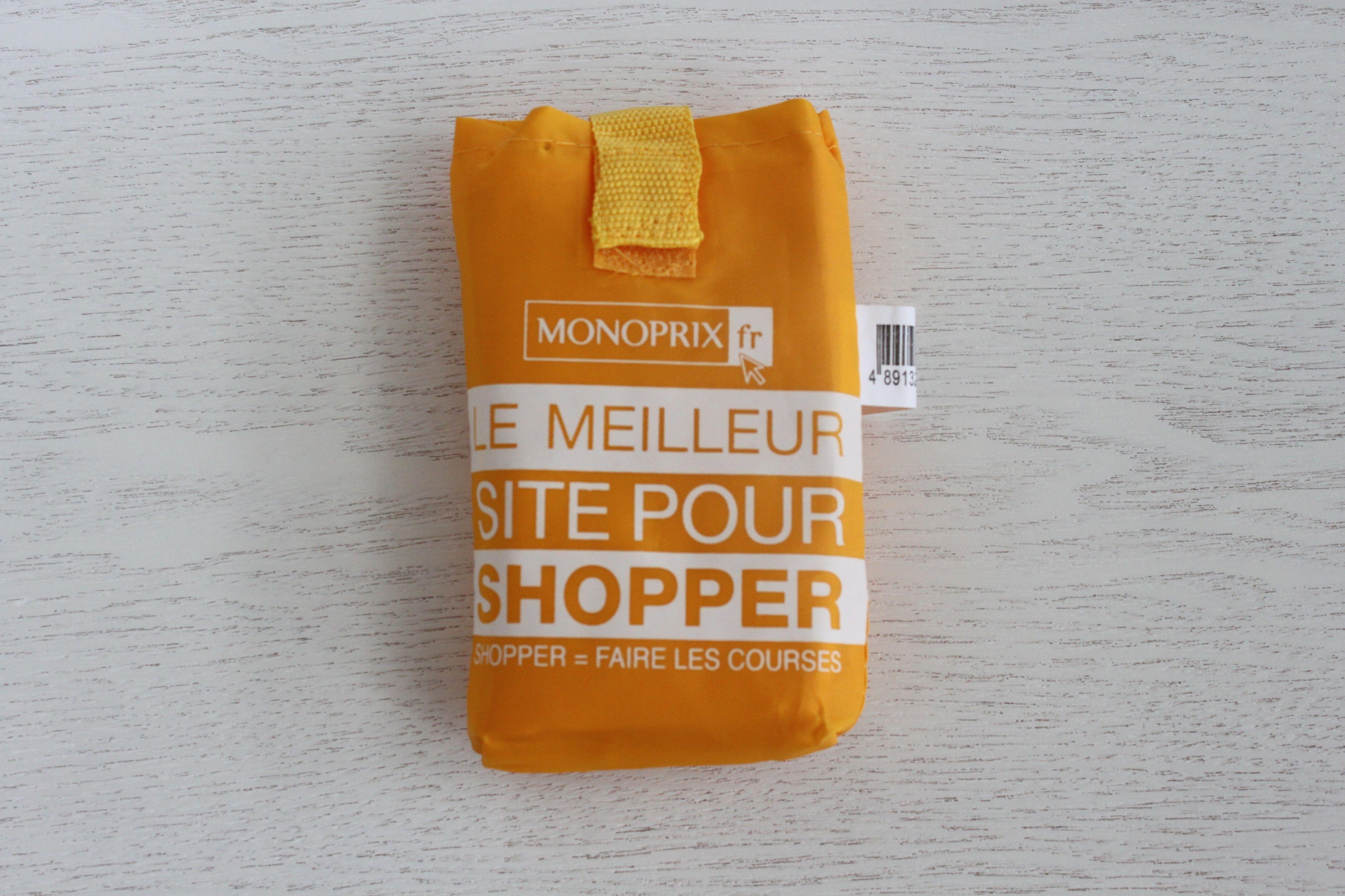 パリのスーパーMONOPRIX エコバッグ イエロー