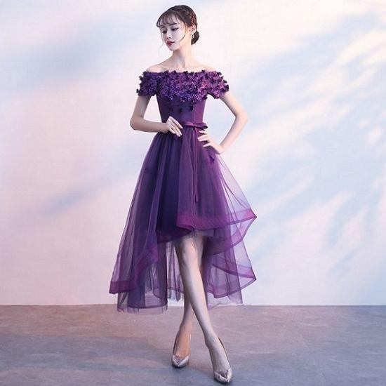 パーティードレス  韓国ワンピース 花柄刺繍 アシンメトリースカート 妖艶 FS064101