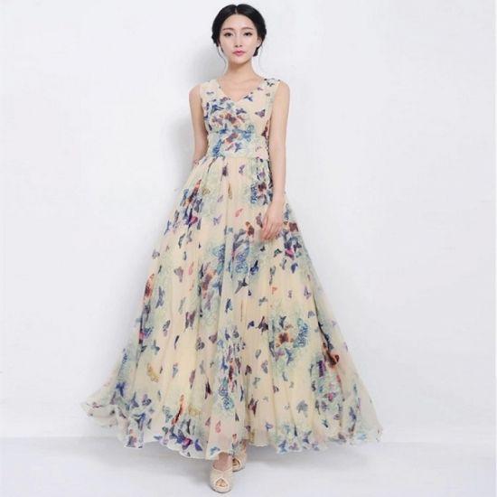 韓国 リゾートワンピ マキシワンピース 花柄 ロングドレス 大きいサイズ XL 2XL 3XL FS029601