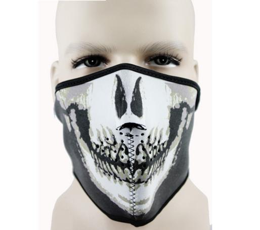 スカル フェイスマスク 防寒 スノボ サバゲー
