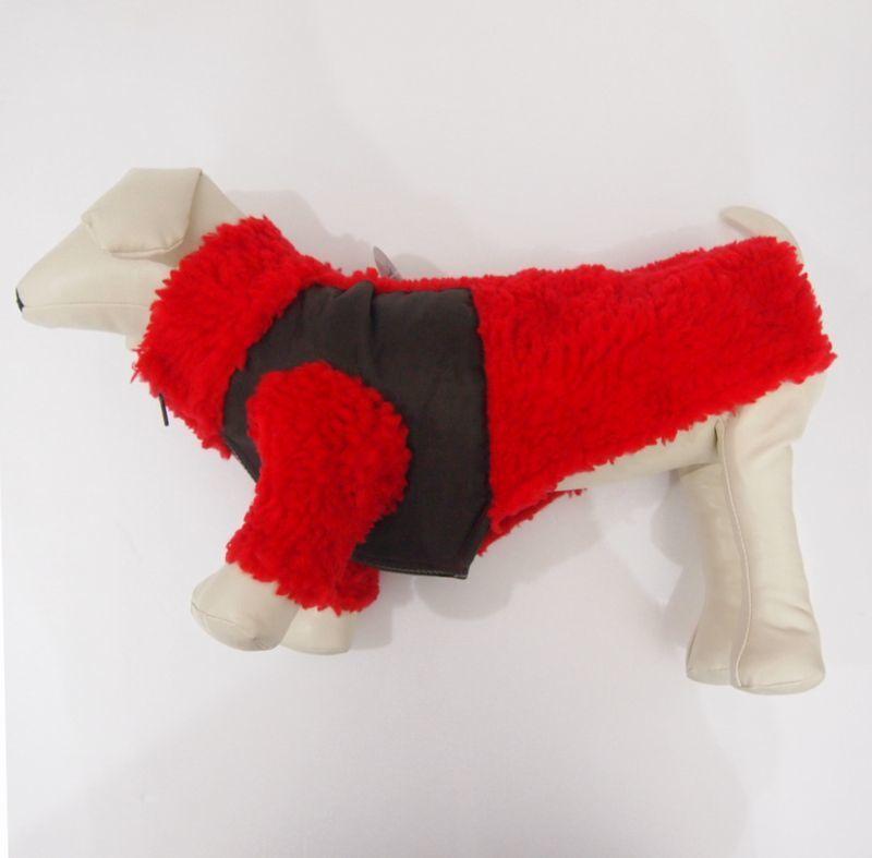 wag wear Monkey Fleece Jacket RED/BROWN