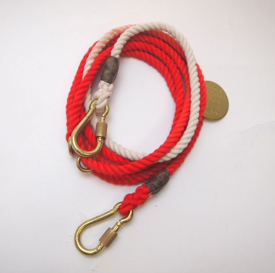 Found My Animal CORAL OMBRE DOG LEASH, ADJUSTABLE