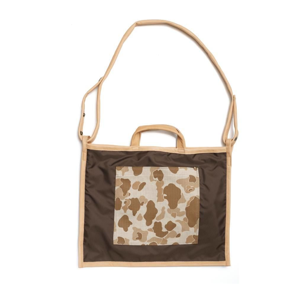 LIFE WITH DOG SHOP 2way Bag for Walking Size L (Brown×Beige)