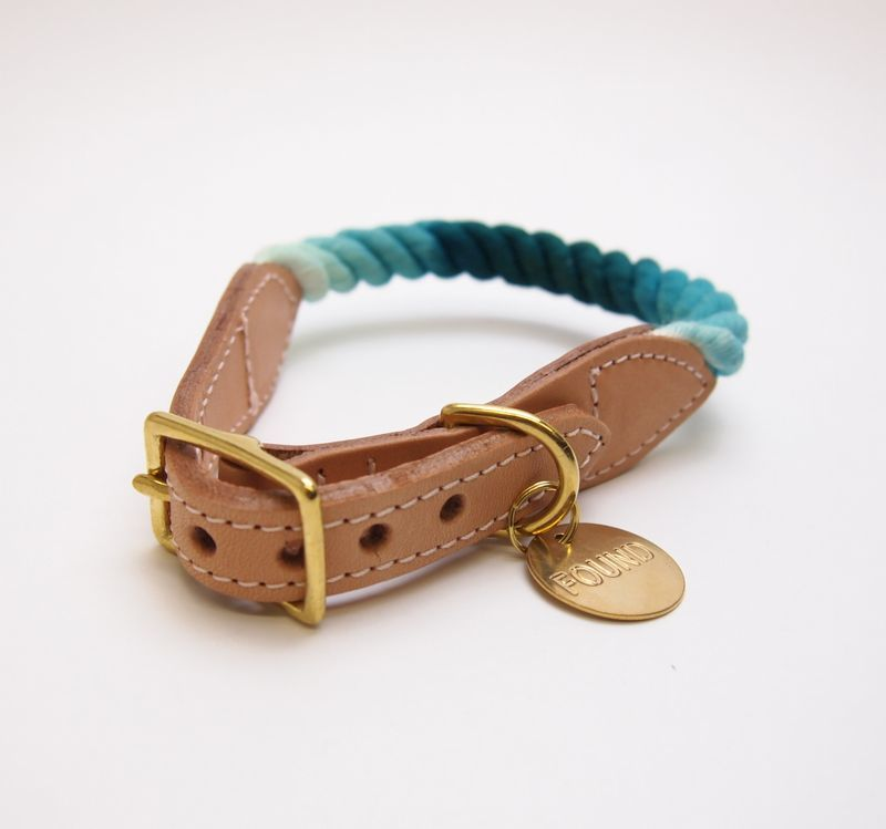 Found My Animal TEAL OMBRE DOG COLLAR