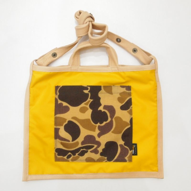 LIFE WITH DOG SHOP 2way Bag for Walking (Yellow×Beige)