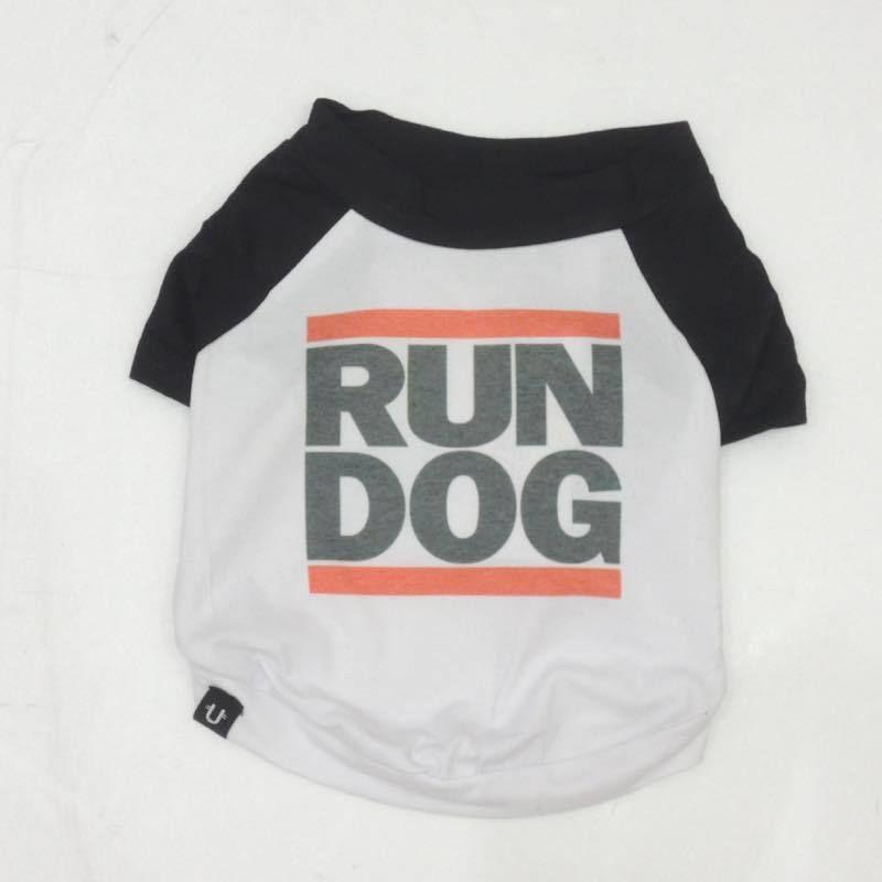 PETHAUS RAGLAN DOG TEE <RUN D.O.G> sz  M~XXL