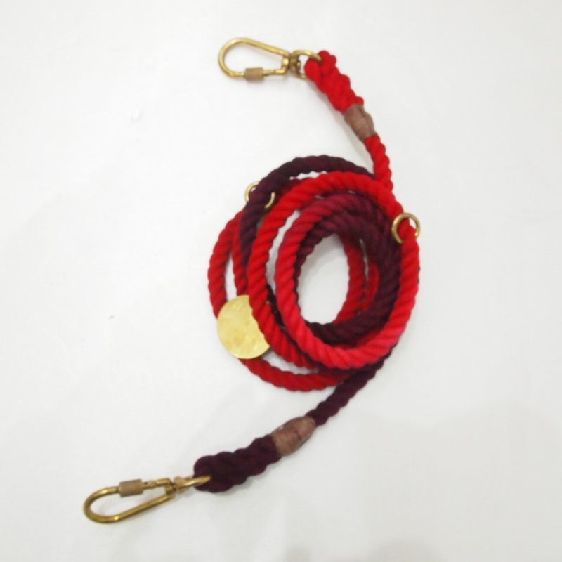 Found My Animal  ADJUSTABLE  DOG LEASH(Solid Red)