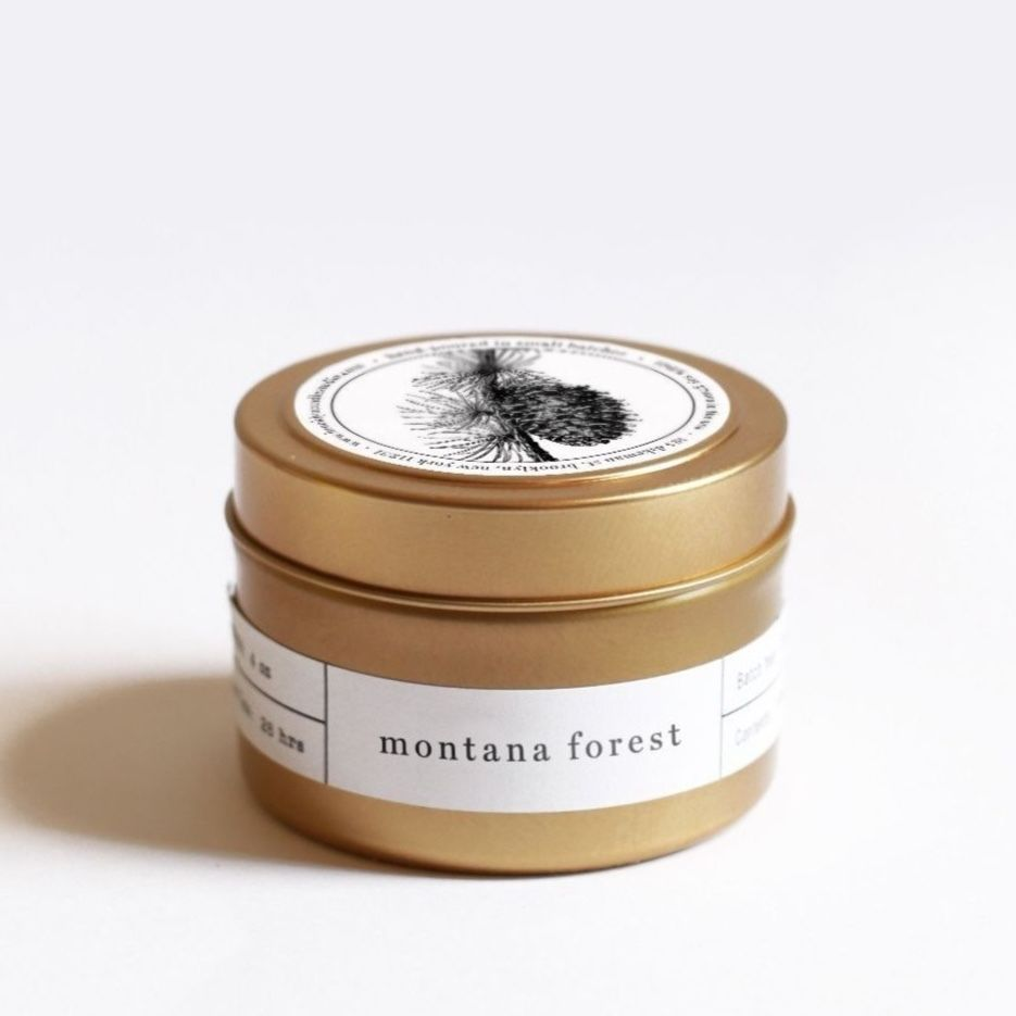 Montana Forest Gold Tavel Candle