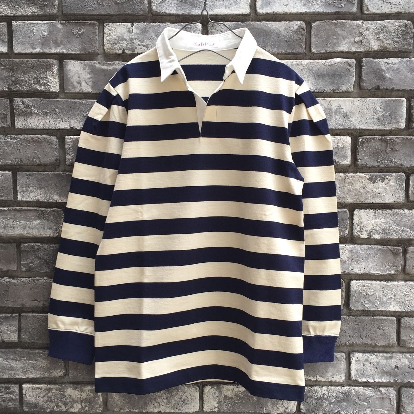 【dahl'ia】ラグビーシャツ