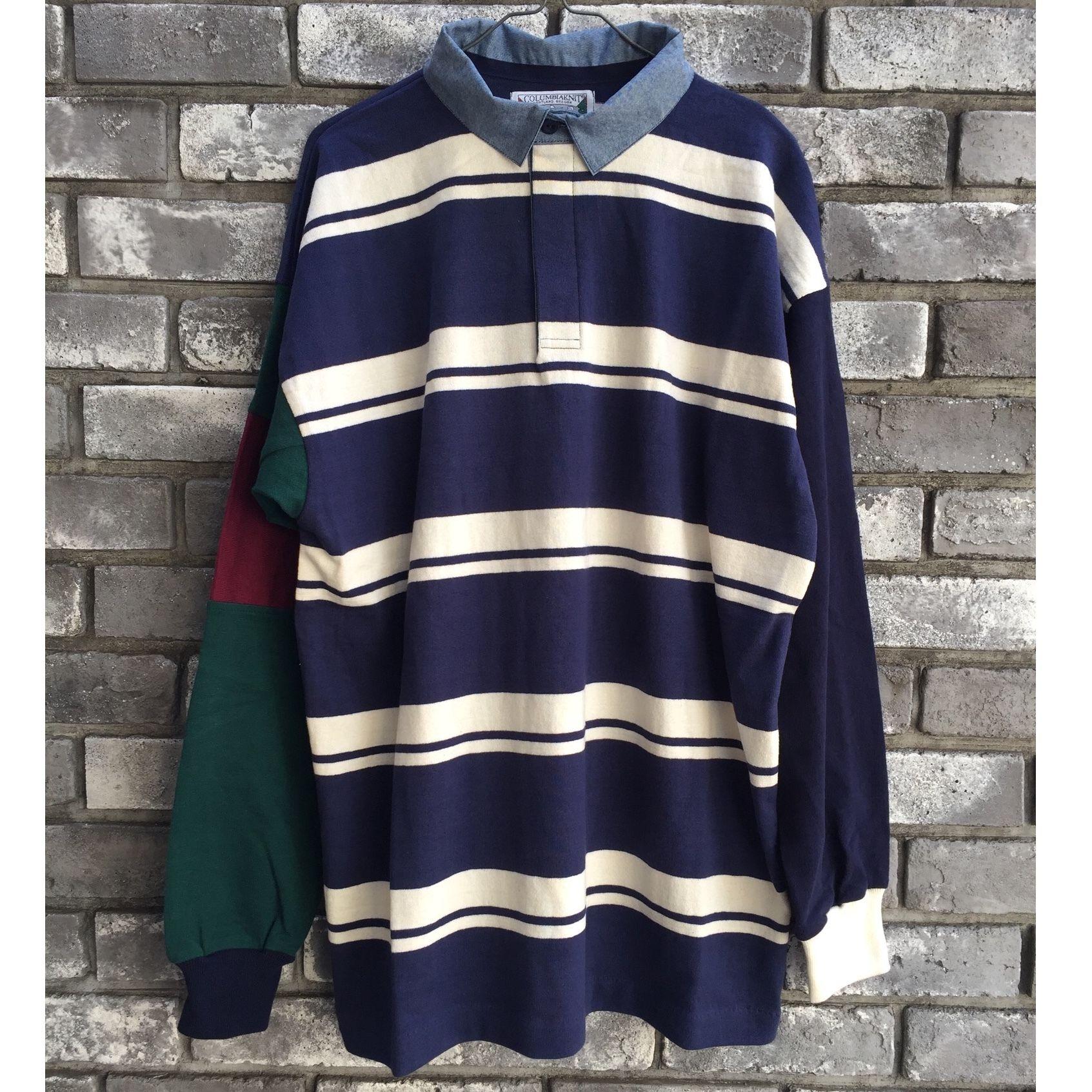 【COLUMBIA KNIT】1000pj practic rugby shirt  Lサイズ