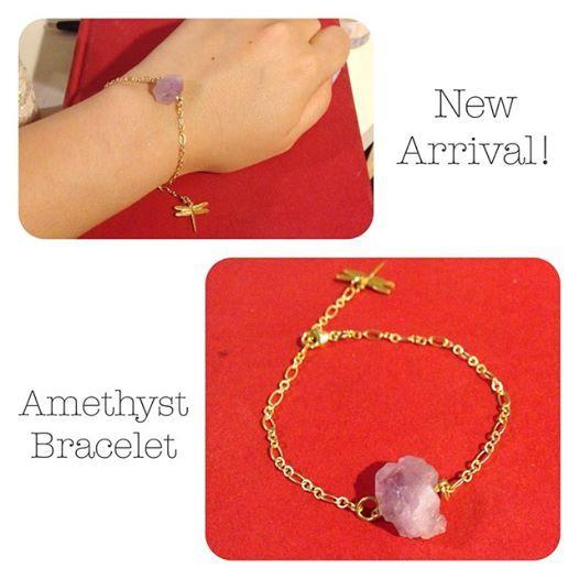 Amethyst Gold Chain Bracelet