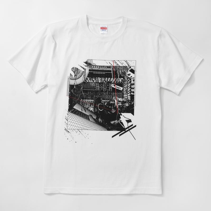 Logic System × 河村康輔    シンセ・コラージュTシャツ(ホワイト)