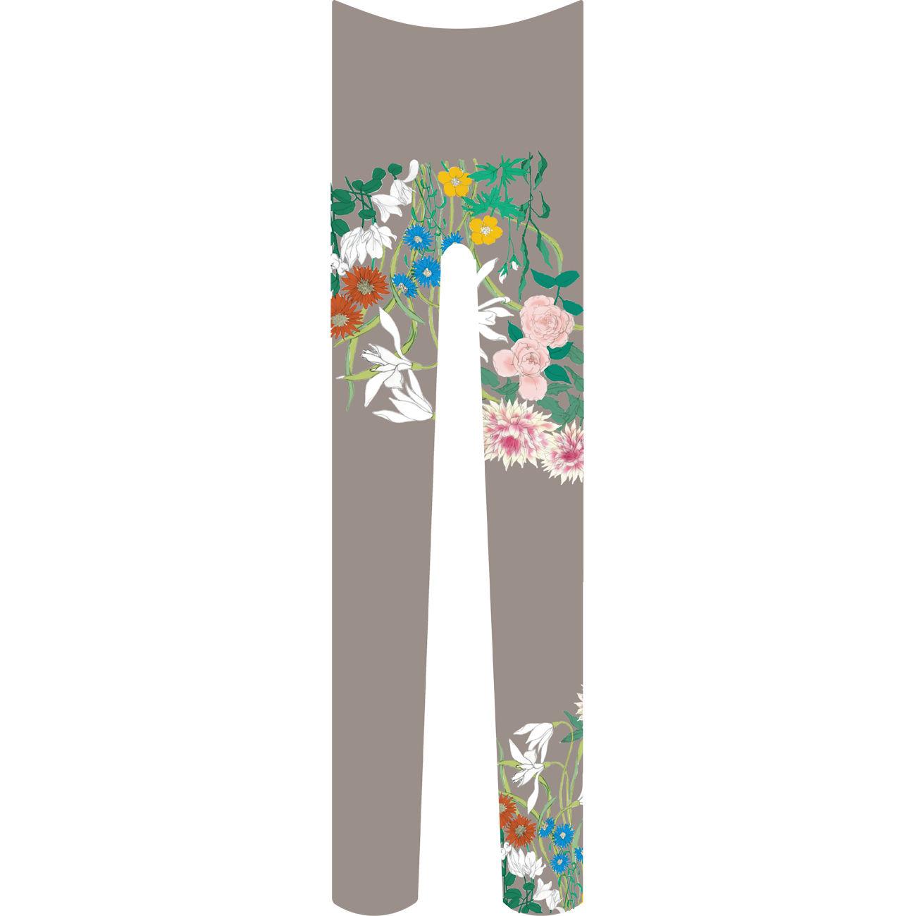 花 タイツ 雉鳩色