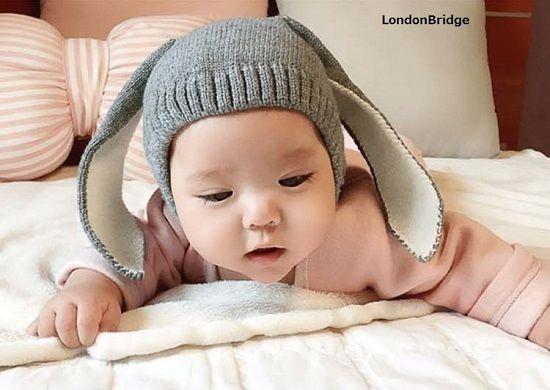 ベビー キッズ マタニティー/ベビー服 送料無料 ニット帽 帽子 プレゼント 出産祝い 誕生日 ギフト かわいい キュート 男の子 女の子 うさぎ動物 防寒 TAGX10407