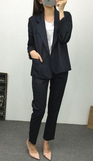 スーツ フォーマル パンツスーツ パンツ 春 秋 レディース 卒業式 入学式 結婚式 セットアップ 上下セットアップ 長袖 ジャケット スーツセット ストライプ TAGX10764