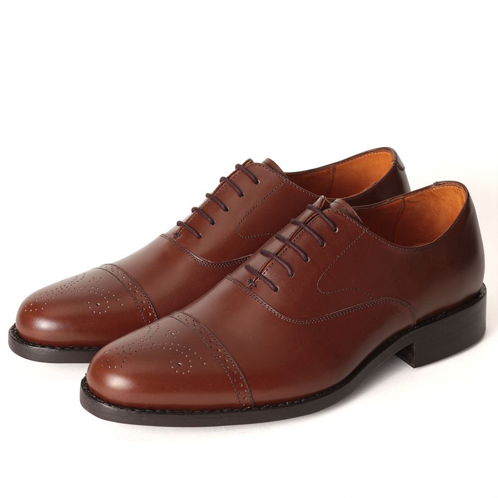 No.321|Semi Brogues Oxford|Middle Brown