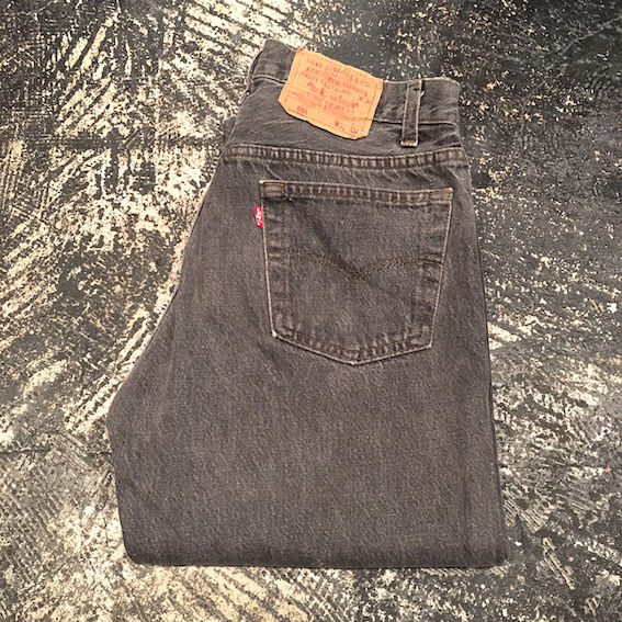 【OLD】 Levi's 501 BLACK DENIM PANTS (W31×L34)