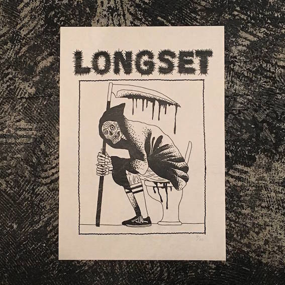 "【 LONG SET ORIGINAL 】LSD-019 LONG SET × SCUMBOY ""SHIT REAPER"" A3 POSTER (LIMITED30)"