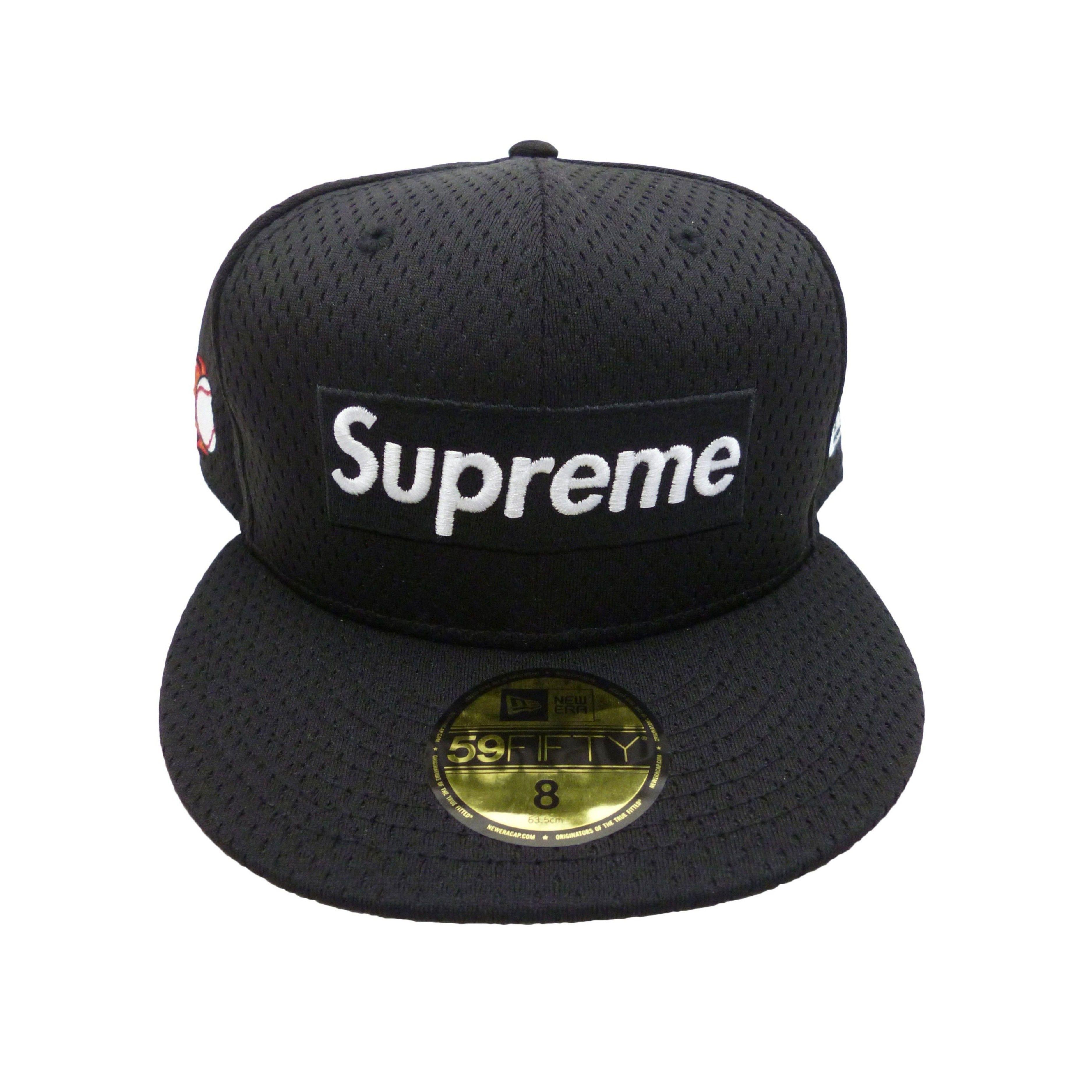 Supreme Mesh Box Logo New Era  (Black)