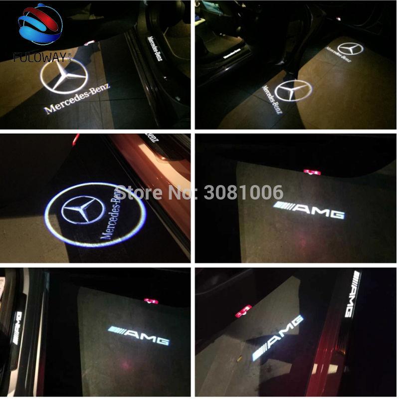 ベンツ W204 Cクラス ドア プロジェクターLED ロゴ カーテシランプ 4個セット メルセデスベンツ