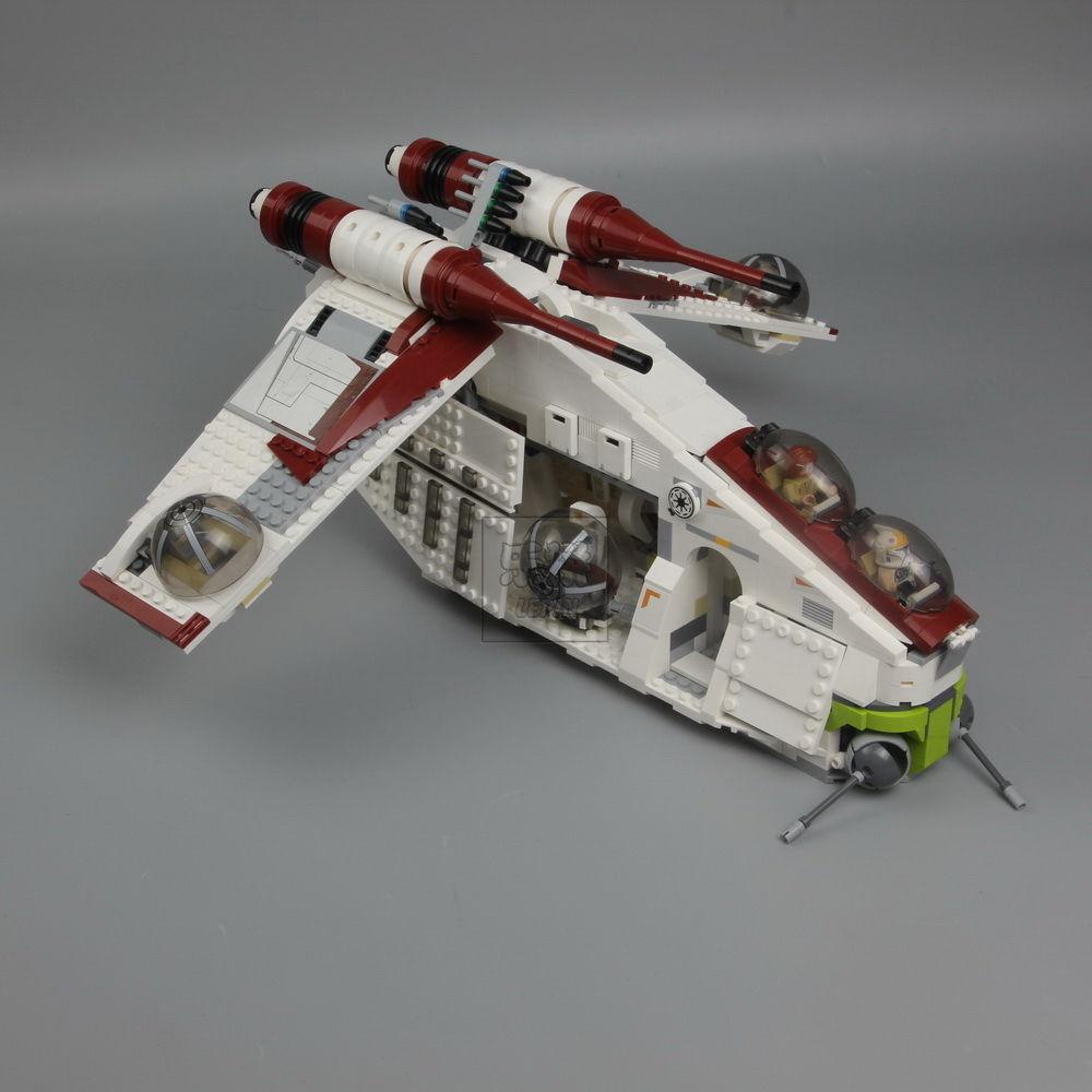 LEGO( レゴ ) 風  スターウォーズ リパブリック ガンシップ  75021 ( LEPIN )