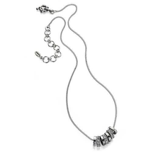 フィオレッリ ネックレス Multi Discs necklace with crystal