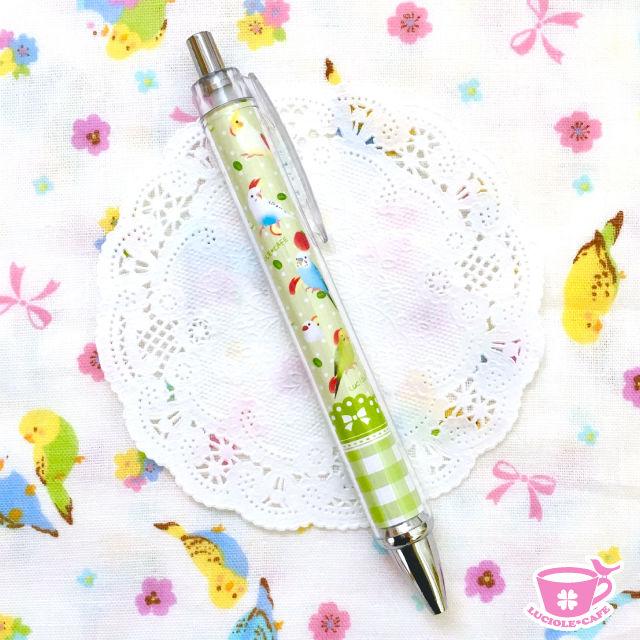 小鳥とりんごのスイーツボールペン?グリーン