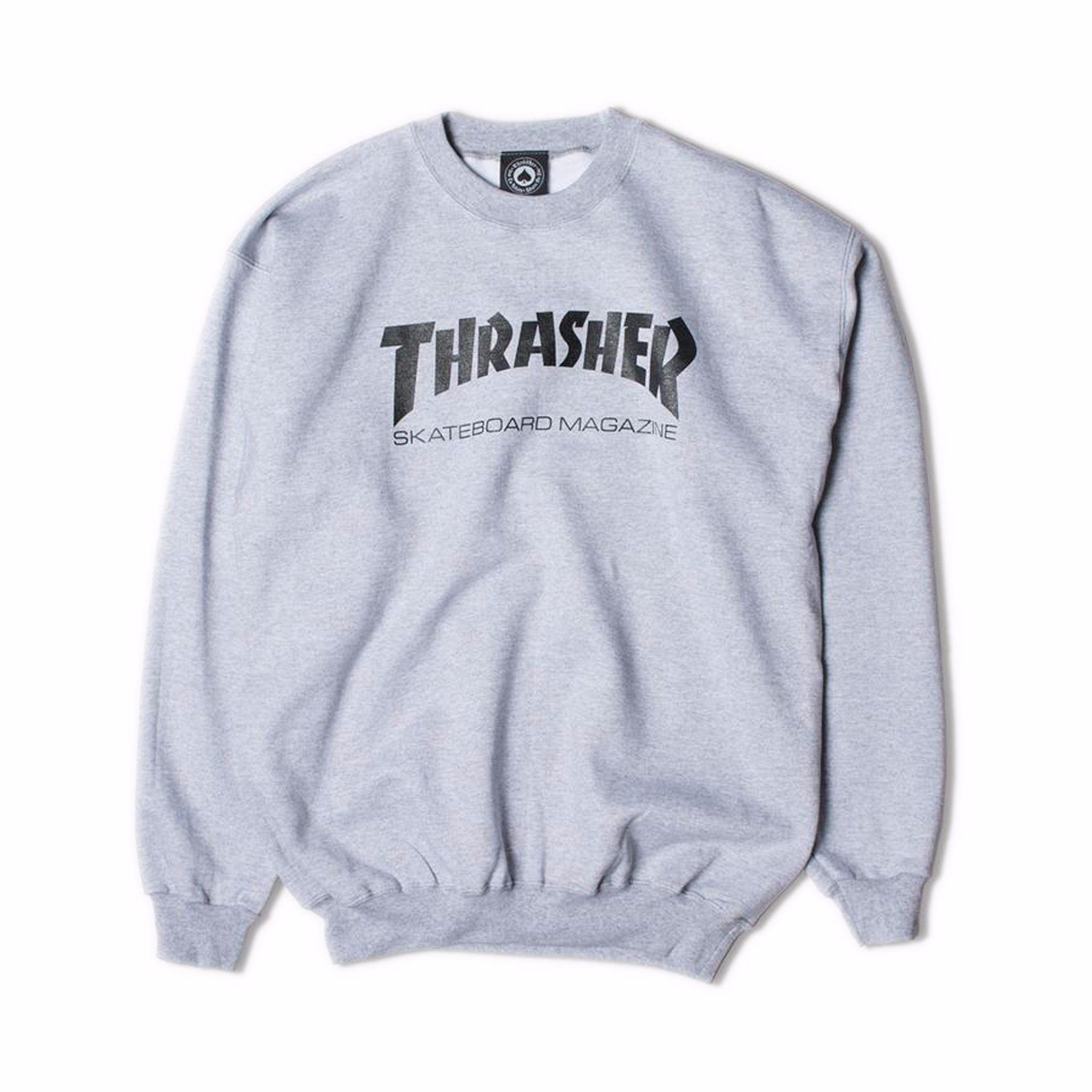 THRASHER【 スラッシャー】MAG LOGO CREWNECK トレーナー グレー