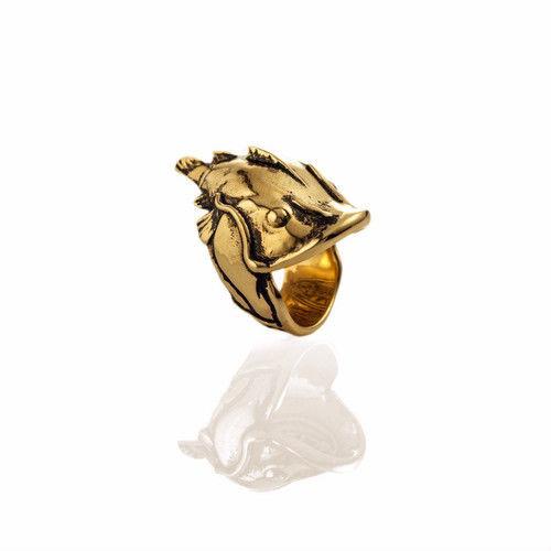 "EL SENOR【 エルセニョール】YELAWOLF ""CATFISH BILLY""RING GOLD PLATED リング 指輪 8号"