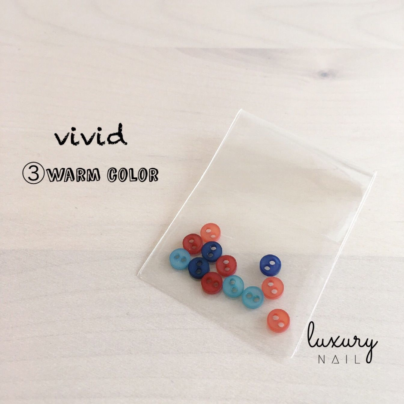 "colorful mini button  "" ③vivid/warm color """