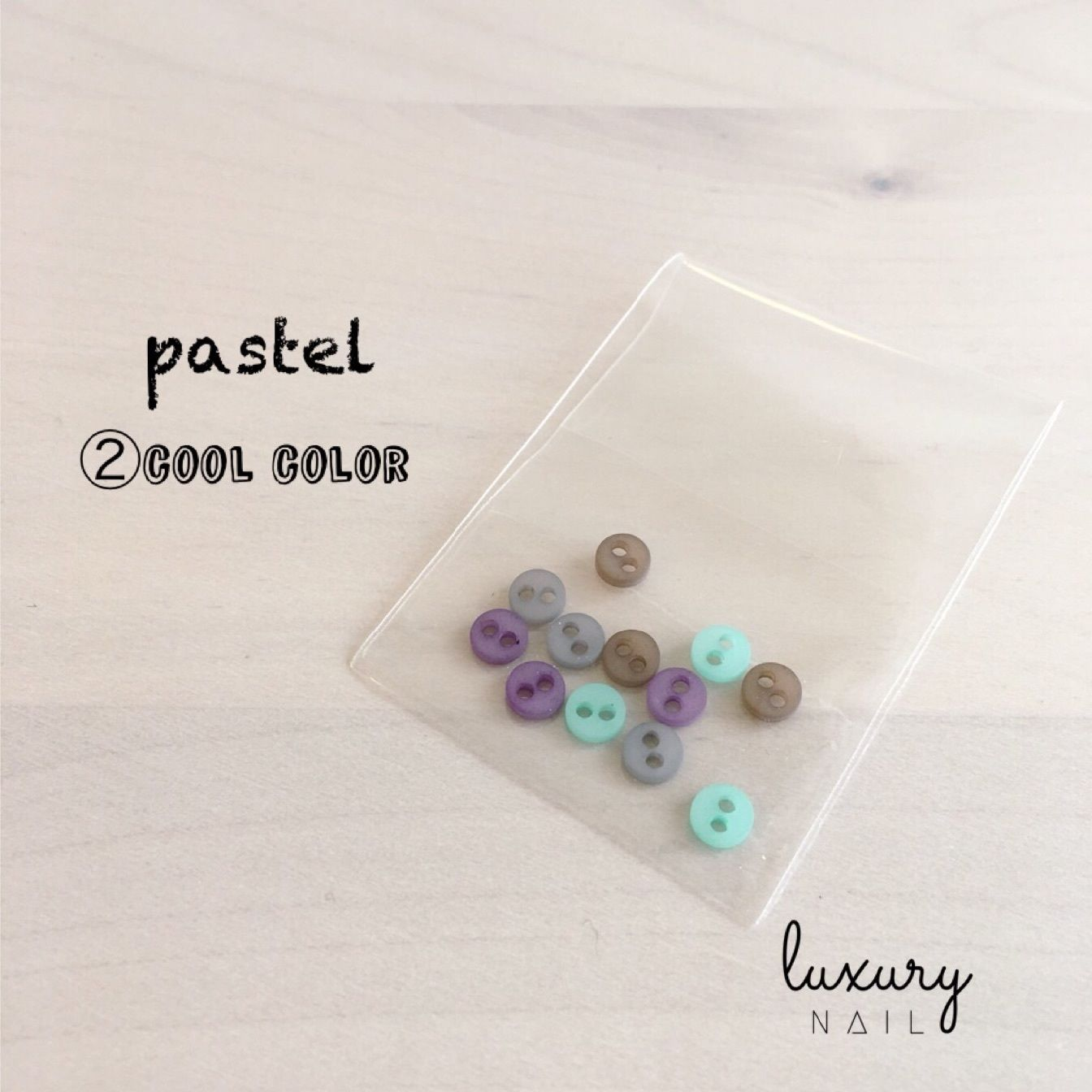"colorful mini button  "" ②pastel/cool color """
