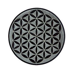 """flower of life"" Incense stick holder soapstone  (SI001)"