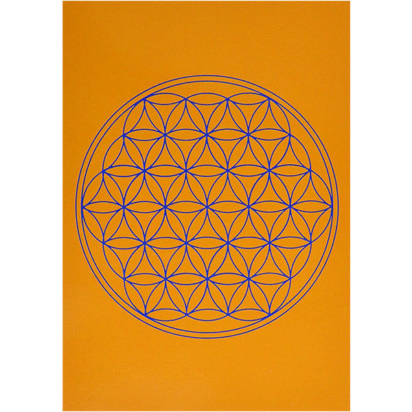"""flower of life""  postcard - orange- (spc002-2)"