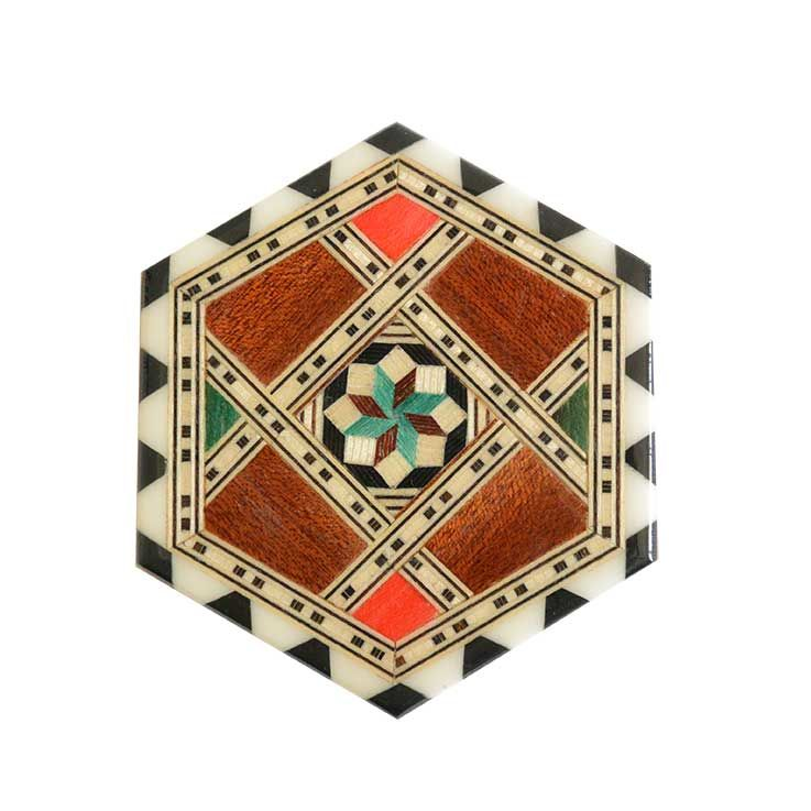 "antique ""morillo el artesano"" mosaic coaster S (gs001)"
