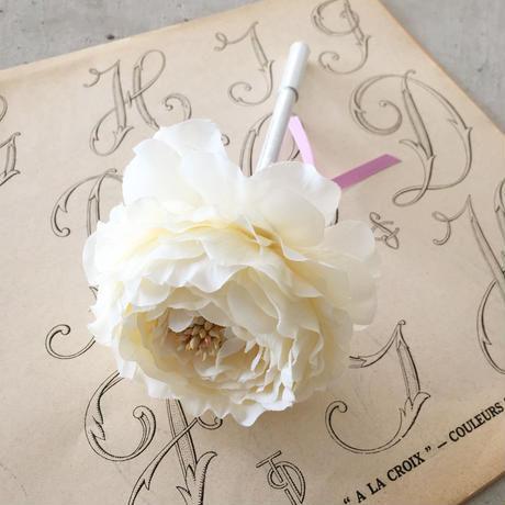 MARBLE & Co. お花のボールペン ラナンキュラス  [cream]