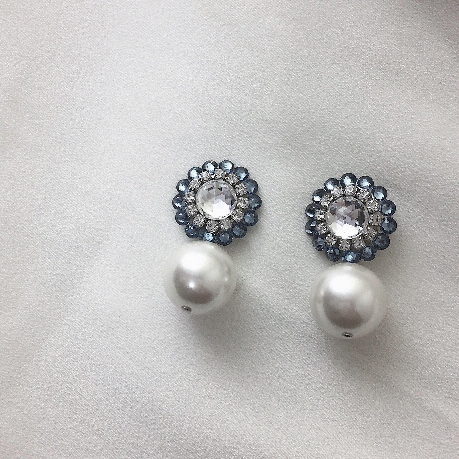Macboothi petit  pearl / denim blue