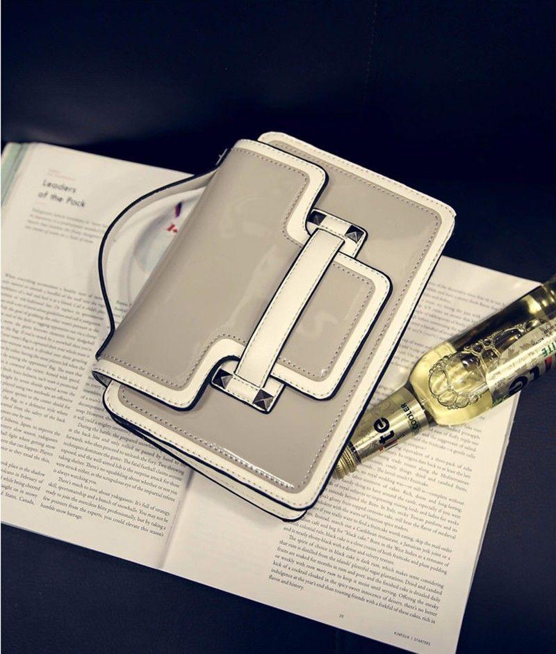 Enamel square mini Bag