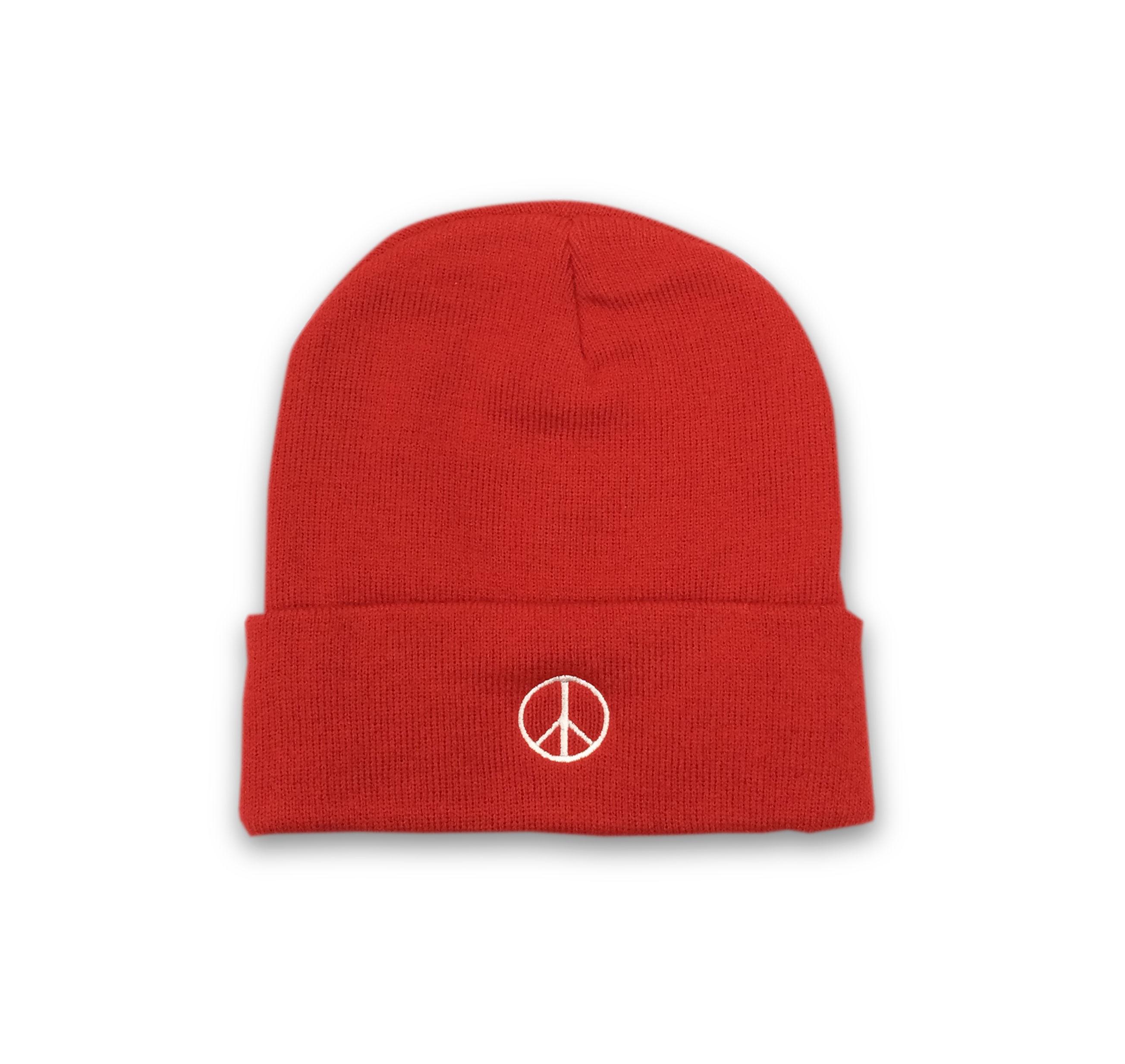 PEACE BEANIE (RED)