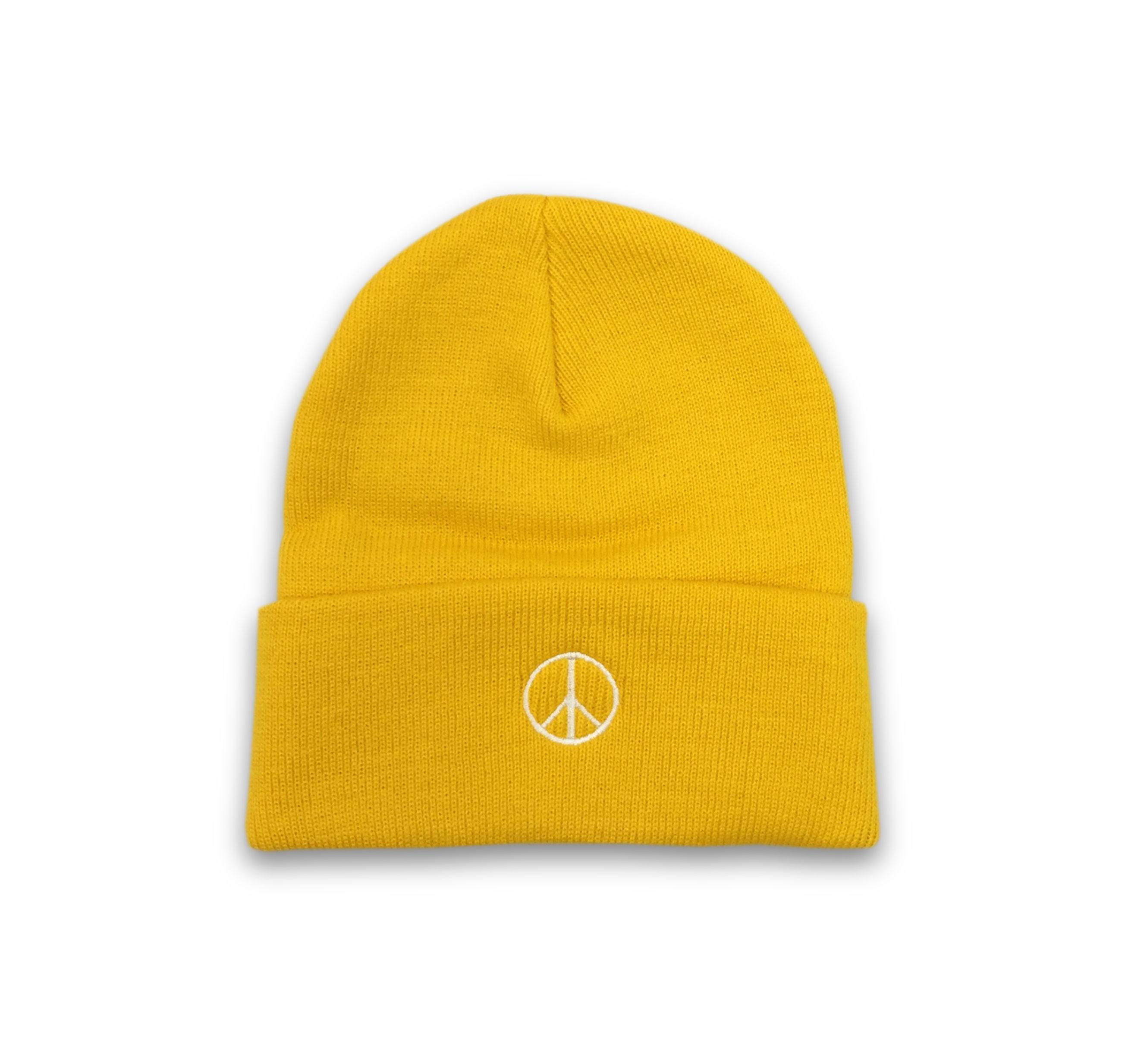PEACE BEANIE (YELLOW)