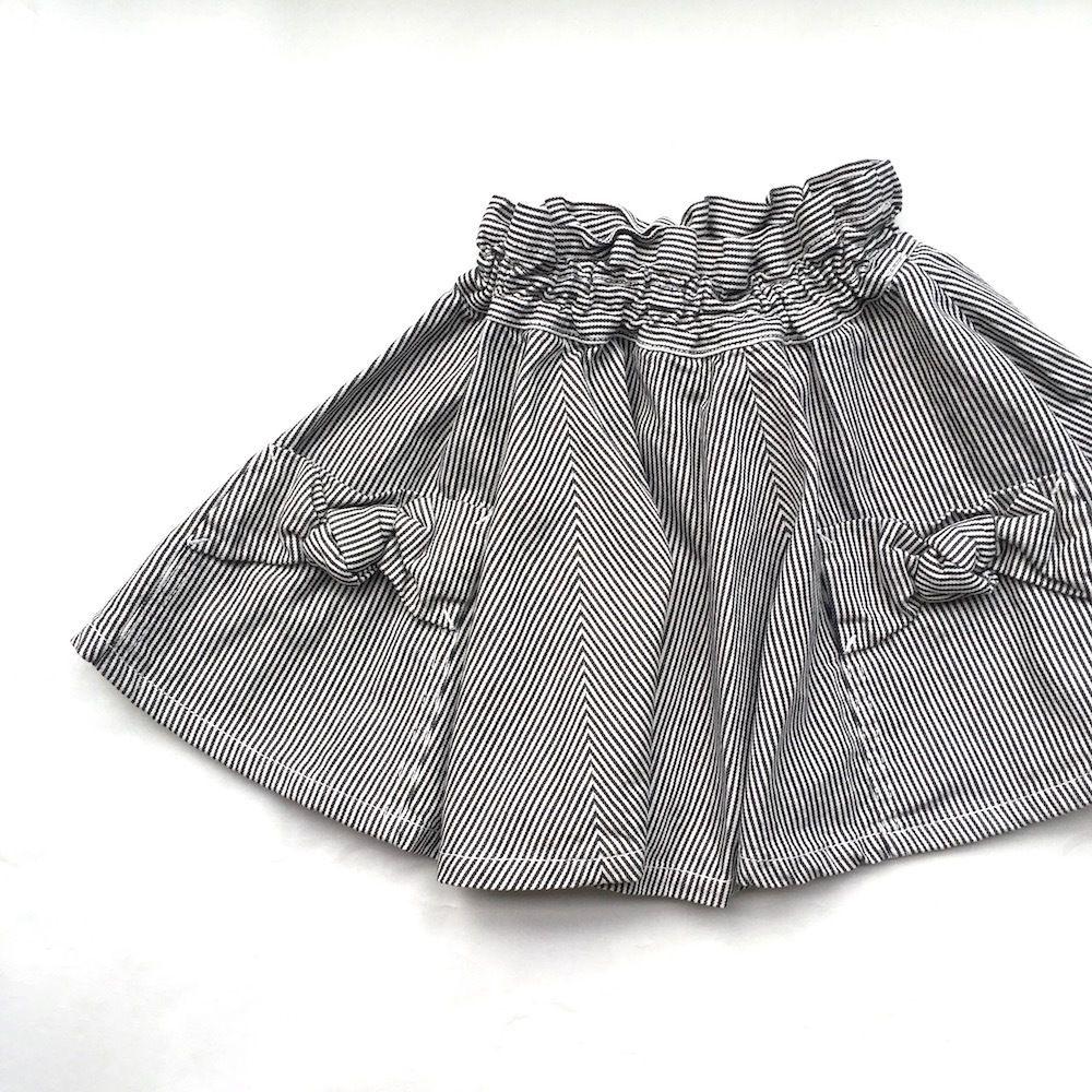 toitoitoi  ヒッコリーフレアスカート(ブラック) 80-110cm mm