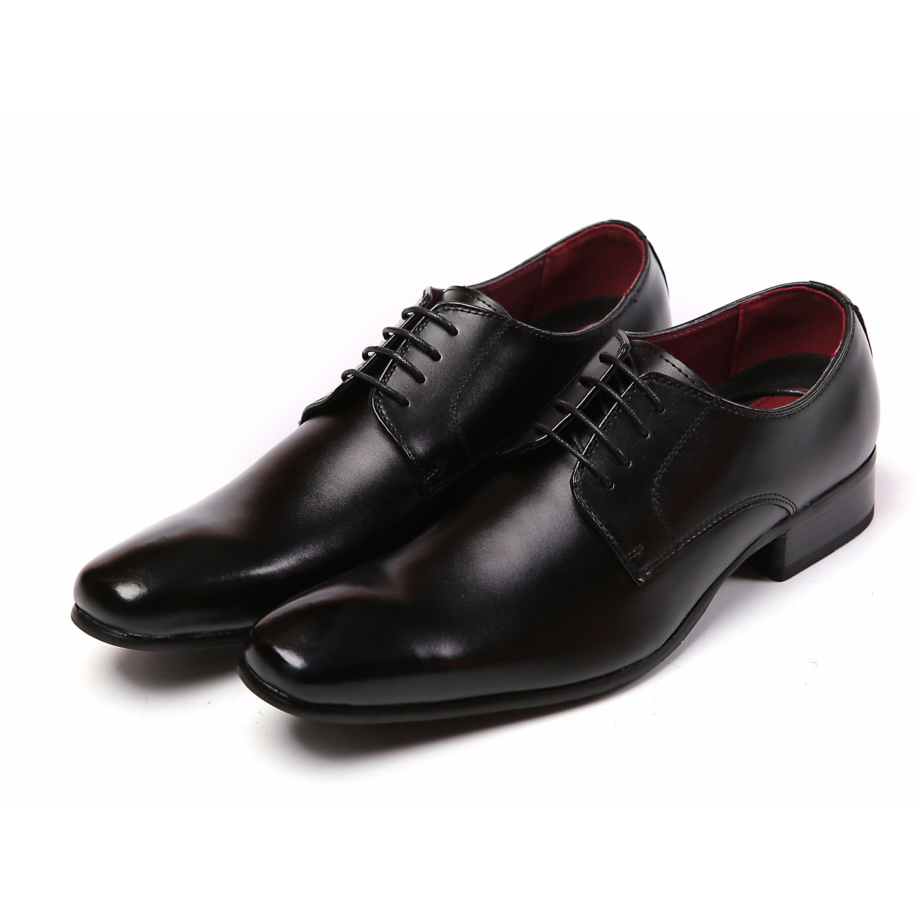 【Jo Marino】 高品質 本革 メンズ 革靴 ビジネスシューズ 紳士靴 防滑 撥水アッパー 高反発インソール 3E 多機能-779-BLACK
