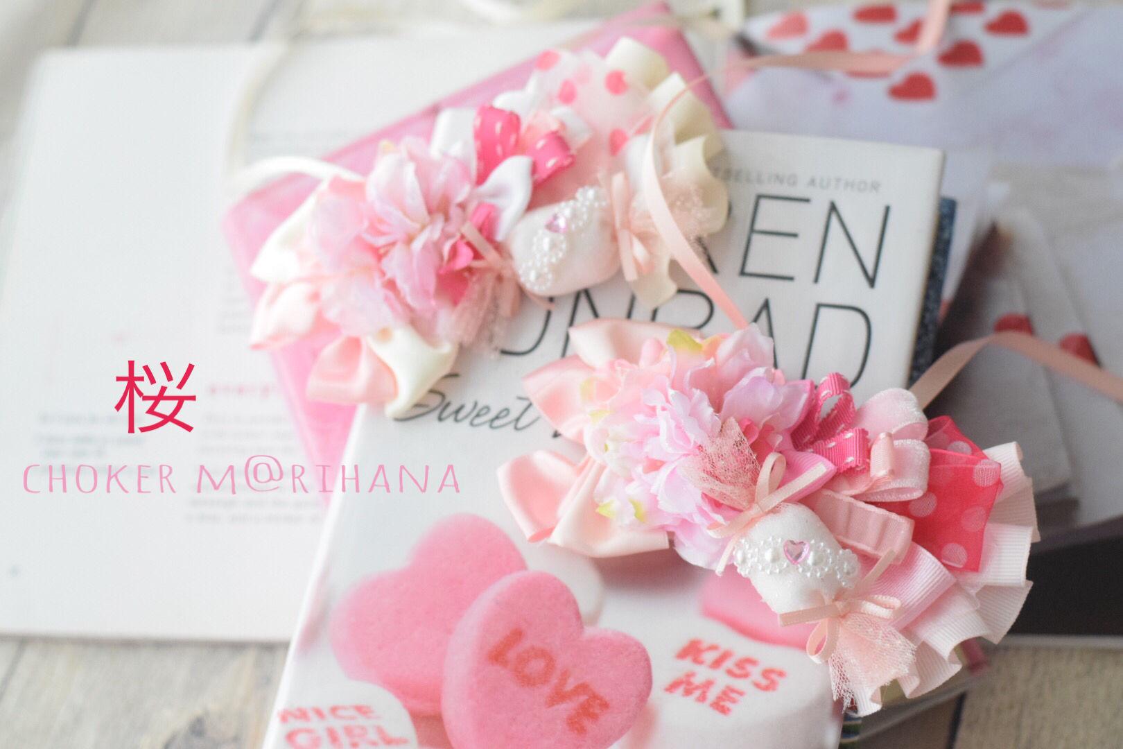 【ご予約】桜キャンディーチョーカー