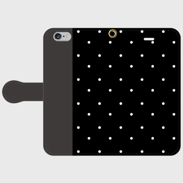 polka dot  BK smart phone cover / iPhone (期間限定価格)