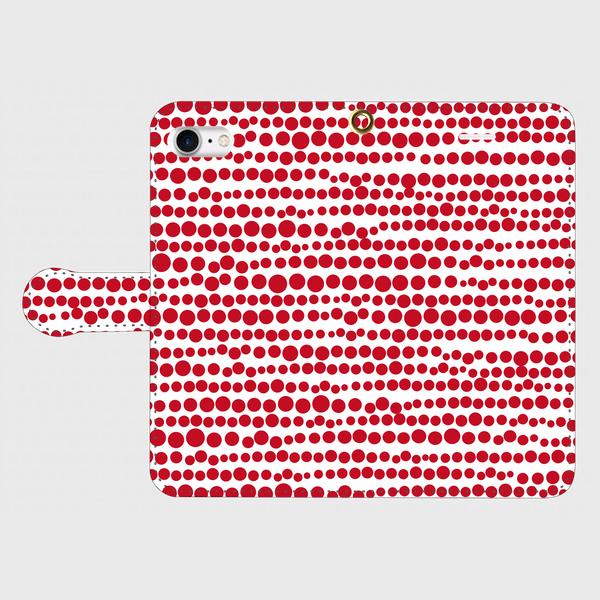 点、点、点。dot red / white smart phone cover / iPhone