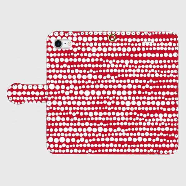 点、点、点。dot white / red smart phone cover / iPhone