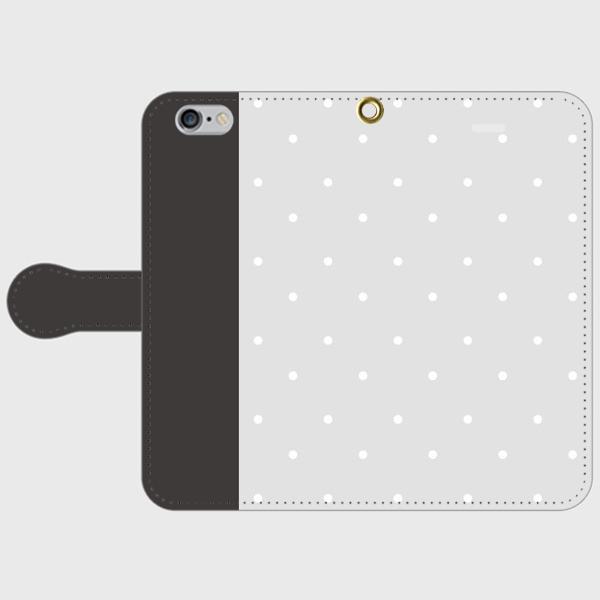 polka dot  GY smart phone cover / iPhone (期間限定価格)