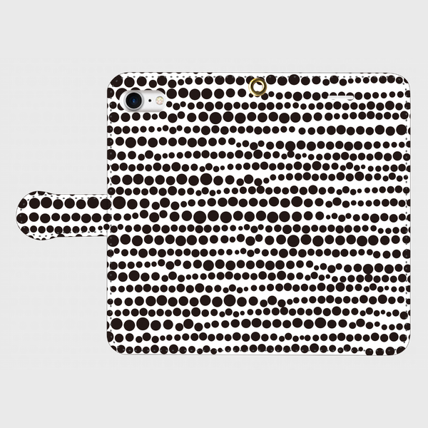 点、点、点。dot black / white smart phone cover / iPhone