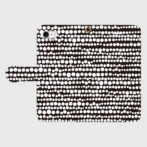 点、点、点。dot white / black smart phone cover / iPhone