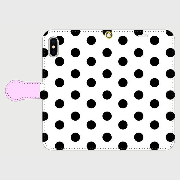 coin dot & lavender White 手帳型 / iPhone